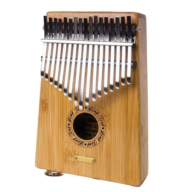 17 Keys Bamboo Finger Mbira Kalimba Keyboard Thumb Pocket Piano With pickup - intl