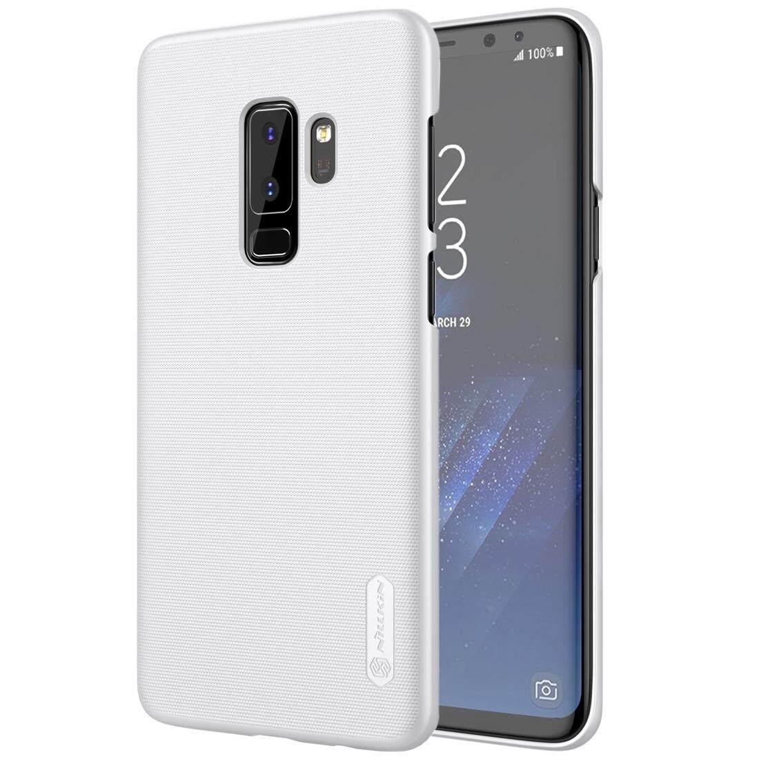 NILLKIN untuk Samsung Galaksi S9 + Tekstur Cembung Cekung Buah Pelindung Belakang Case (Putih)-Internasional
