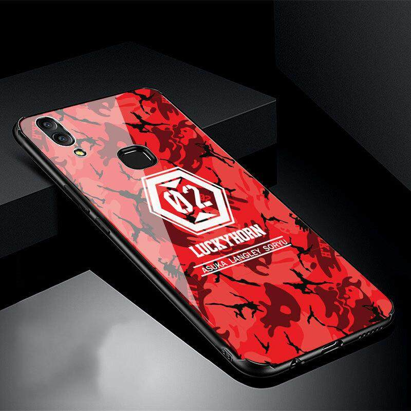 For Vivo V9 Back Tempered Glass Case Full coverage Cartoon Cover Tempered Glass cases For Vivo V9 Casing - intl