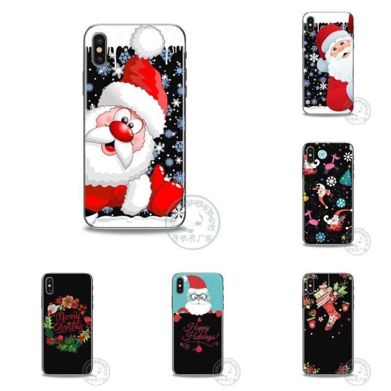 Pelangi Situs 25 Gaya Baru Modis Natal Pola Santa Klausa Silikon TPU + Buah Sarung untuk iPhone Cangkang Case untuk iPhone X 6 6 S 7 8 PLUS Telepon Case S-Warna-warni-Iphone 6 S-2- internasional