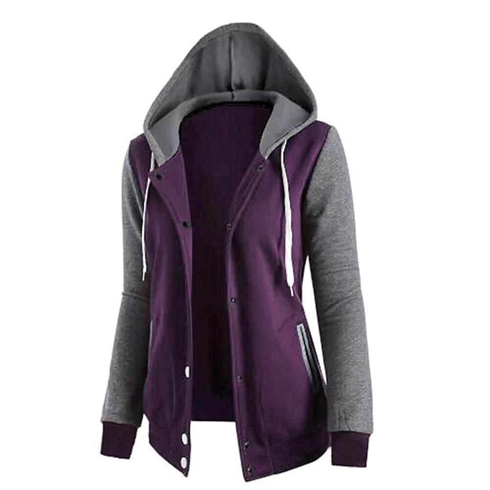 Buying Fahion Wanita Sweater Murah Bts V Recent Model Winter Womens Long Sleeve Stitching Hooded Zippers Cardigan Coat