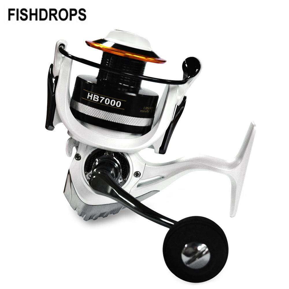 FISHDROPS 12+1BB Lightweight Fishing Tackle Spinning Reel Metal Wheel Fish Spool with Carbon Fiber Brake - HB7000 - intl
