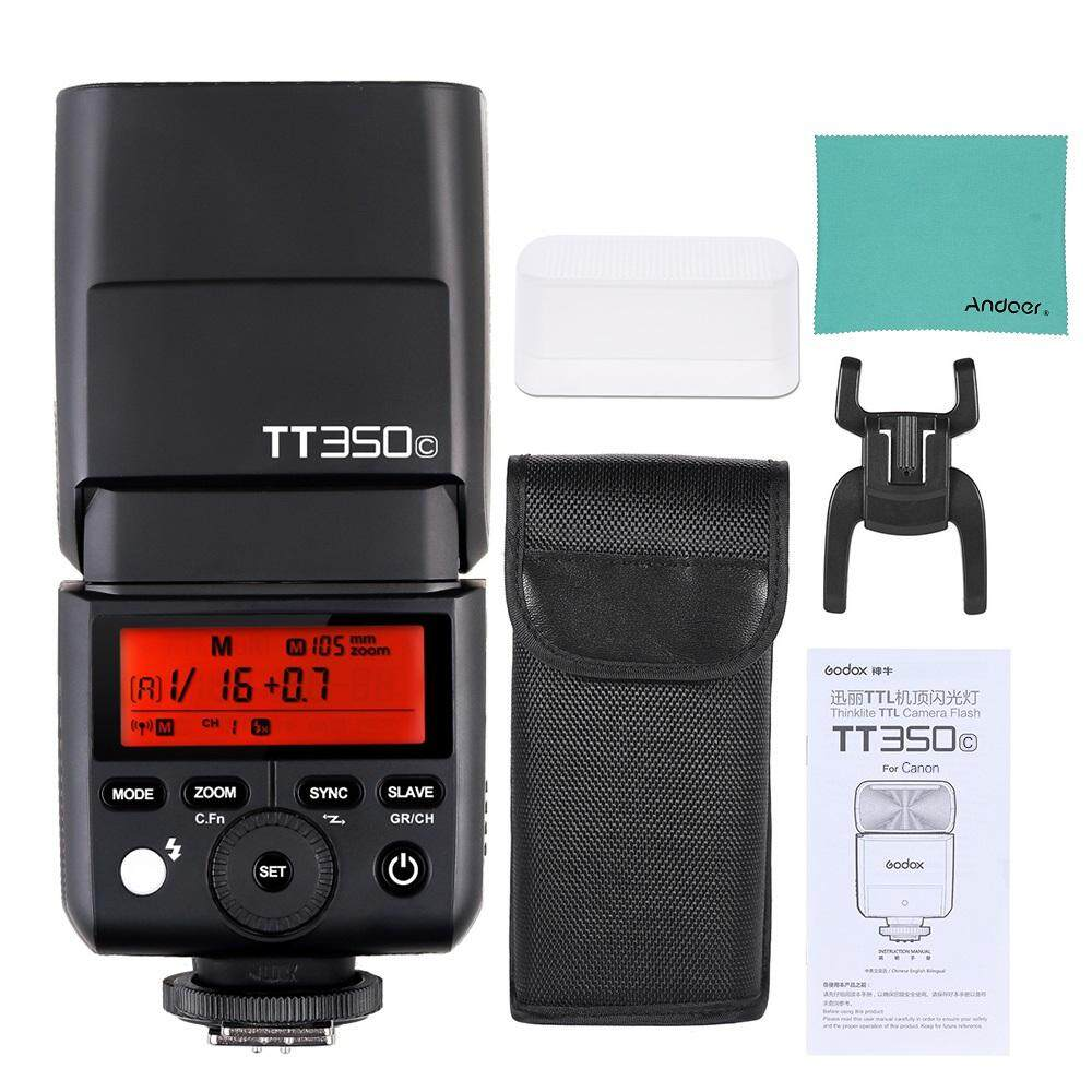 Godox Thinklite TT350C Mini 2.4G Wireless TTL Camera Flash Master & Slave Speedlite 1/8000s HSS for Canon 5D MarkIII 80D 7D 760D 60D 600D 30D 100D 1100D Digital X Cameras