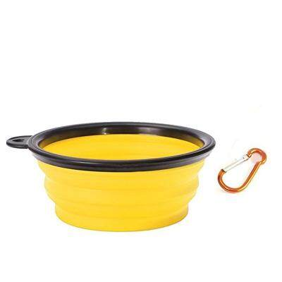 Portable Silicone Collapsible Pet Bowl (YELLOW)
