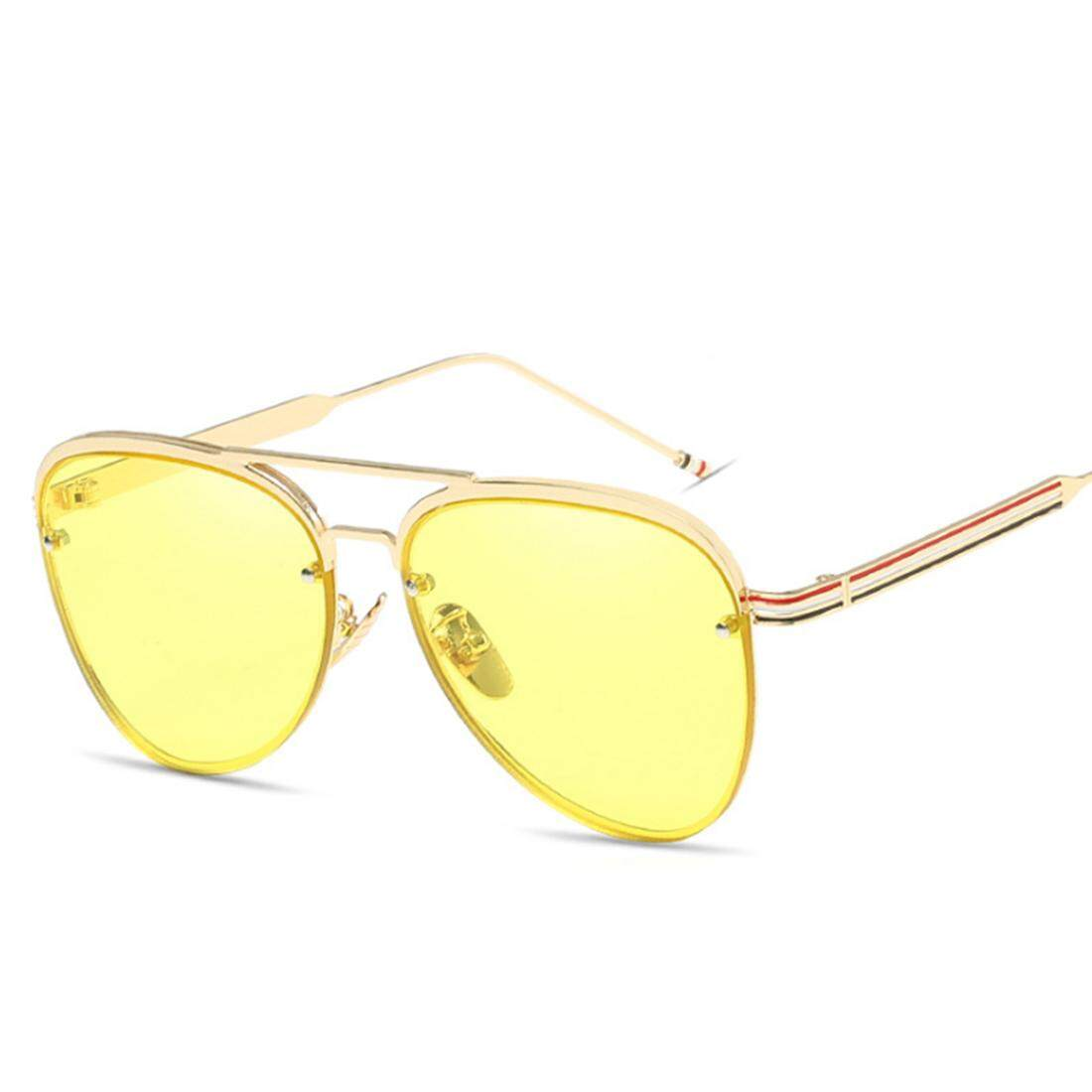 497f1ec89bf 360WISH Fashion Style Sunglasses with Color Film Aviator Eyeglasses for  Women Include Spectacle Case - Golden Frame + Yellow Lens