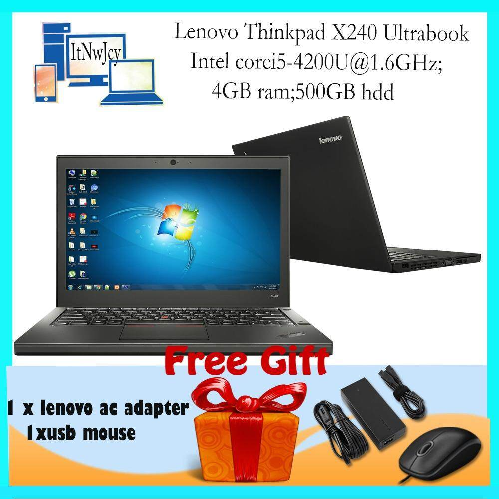 [Refurbished] Lenovo ThinkPad X240 Ultrabook(Core i5-4200U;4GB;500GB)Free Usb Mouse Malaysia