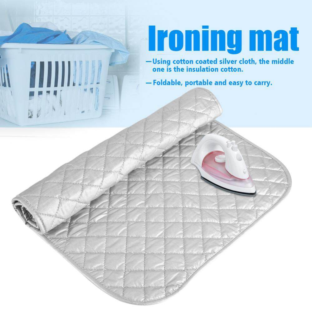 1 PC Portabel Lipat Katun Ironing Alas Perak Laundry Alas Penggunaan Rumah Tangga (60*55 Cm)-Internasional