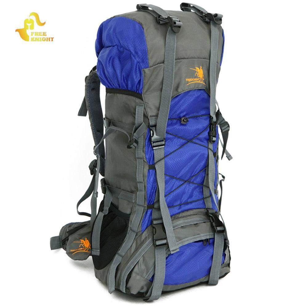Gratis Knight FK008 60L Nilon Ransel Tahan Air Ransel untuk Pendakian Gunung  Berkemah Mendaki Traveling- 67633c2199