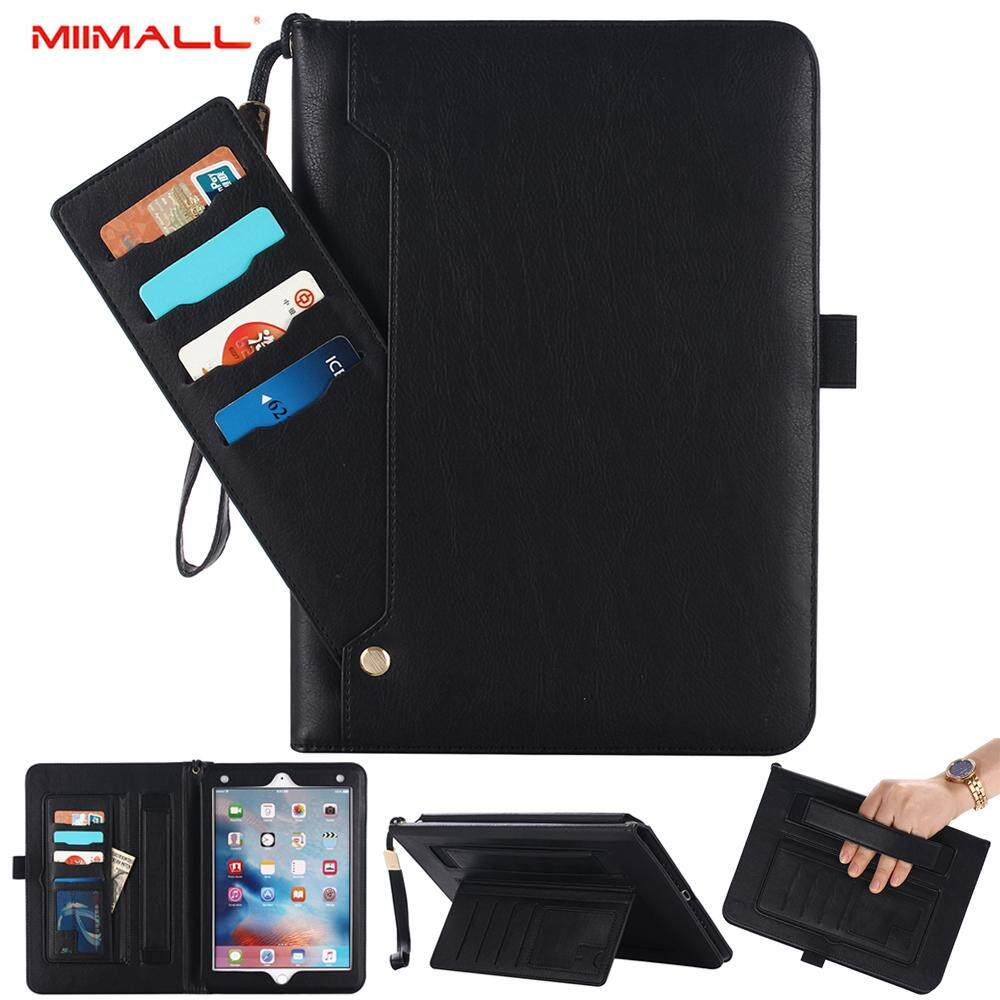 Get The Best Price For Miimall Ipad Air 2 Ipad 9 7 2018 2017 Case Magnetic Closure Genuine Leather Multi Function Luxurious Slim Folio Flip Stand Cover With Card Slots Hand Strap For Apple Ipad Air Ipad Air 2 Apple Ipad 9 7 2017 Apple Ipad Pro 9 7 Tablet Intl