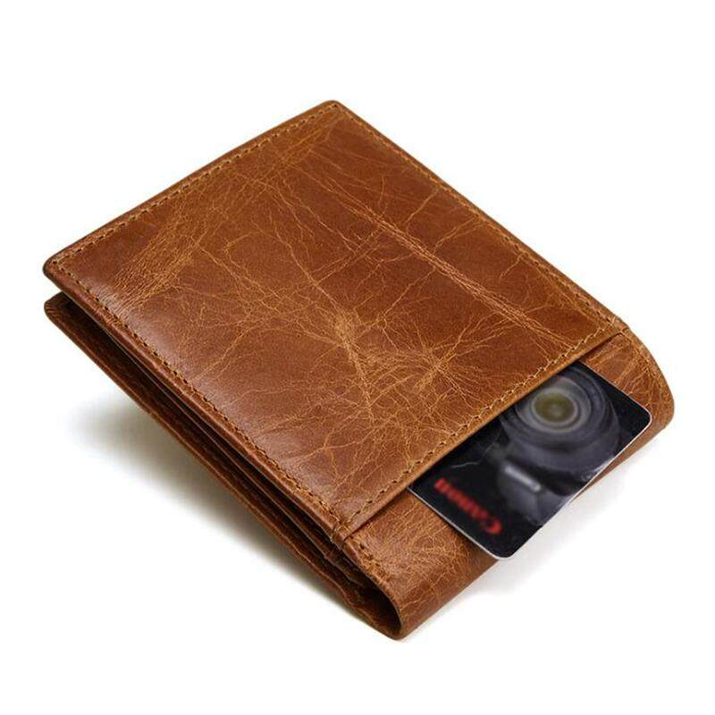 RFID Blocking Mens Genuine Leather Wallet Men Small Bifold Short Wallet Dompet  Kulit . eb075aa2ba