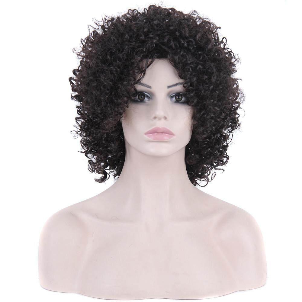 Fashion Wanita Sexy Berponi Penuh Wig Wig Pendek Volume Kecil Wig Auburyshop-Intl