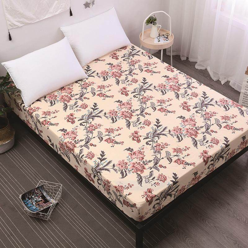 Great Sheleep New Printing Bed Mattress Cover Waterproof Mattress Protector Pad Fitted  Sheet Separated Water Bed Linens