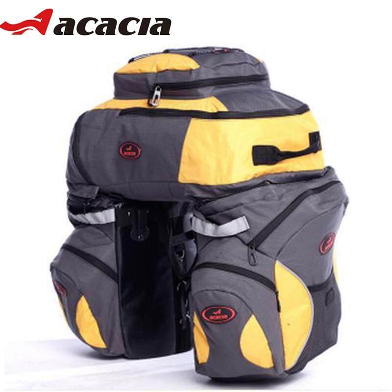 Acacia Multifungsi Nilon Sepeda Kursi Tas Sepeda Keranjang dengan Sarung Anti-Air Jarak Jauh Daki