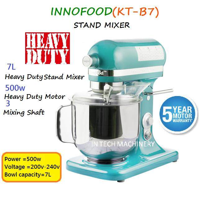 INNOFOOD KT-B7/KT-7500 STAND MIXER (HEAVY DUTY) TIFFANY BLUE
