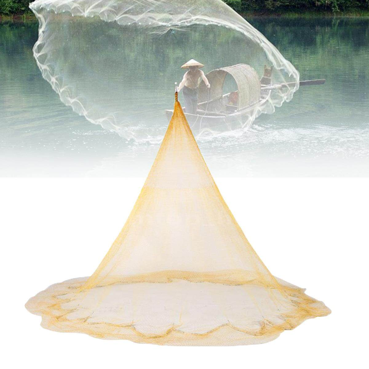 Sale 3 X 4M Big Fishing Nylon Monofilament Fish Gill Net Easy Throw For Hand Casting Intl Not Specified Original