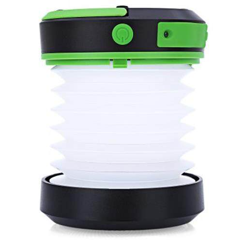 SOLAR POWERED LED CAMPING LANTERN WITH MOBILE CHARGER (GREEN)