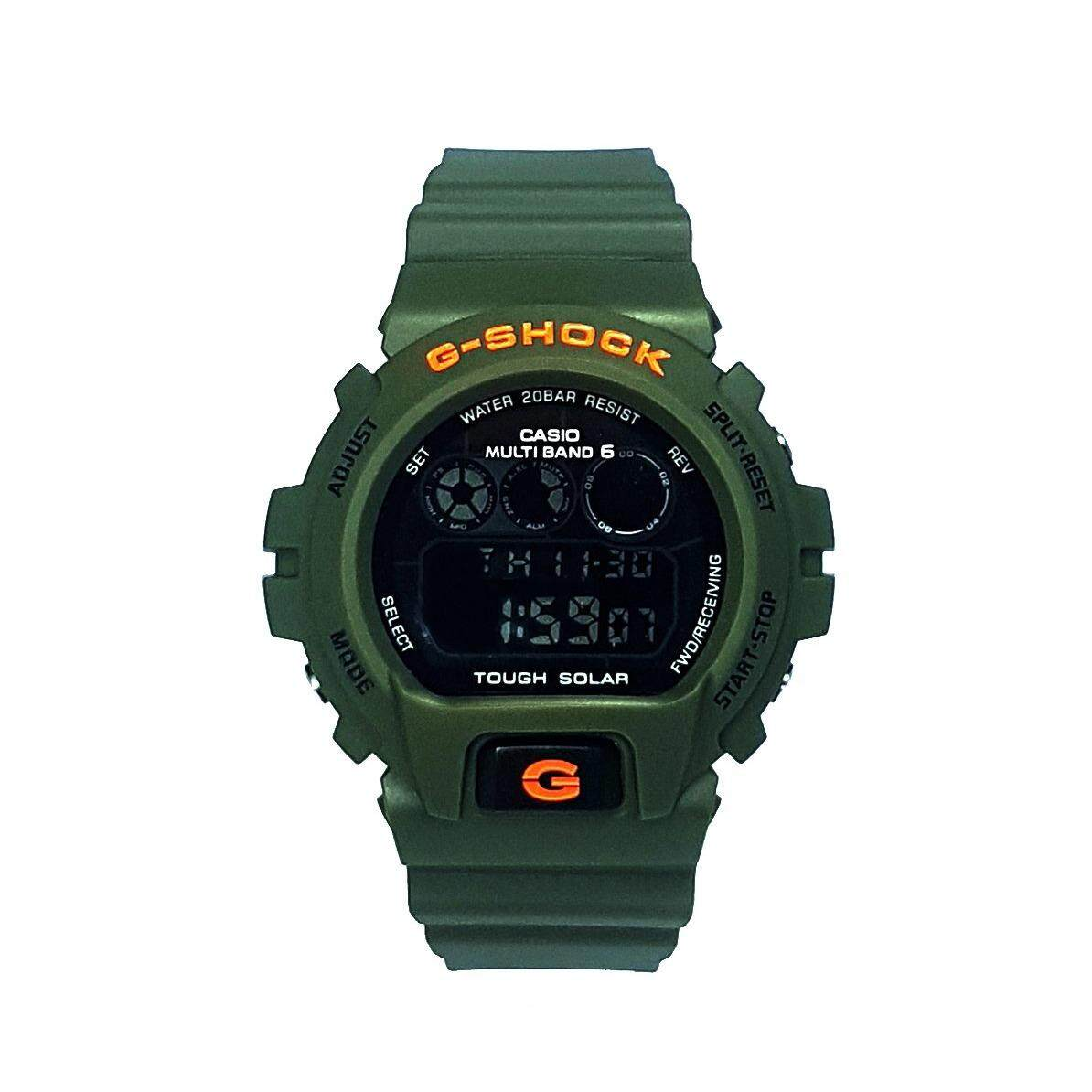 Features Rare Casio G Shock Dw 6900ln 3a Army Green Orange Resin 6900nb 7dr Straps Sports