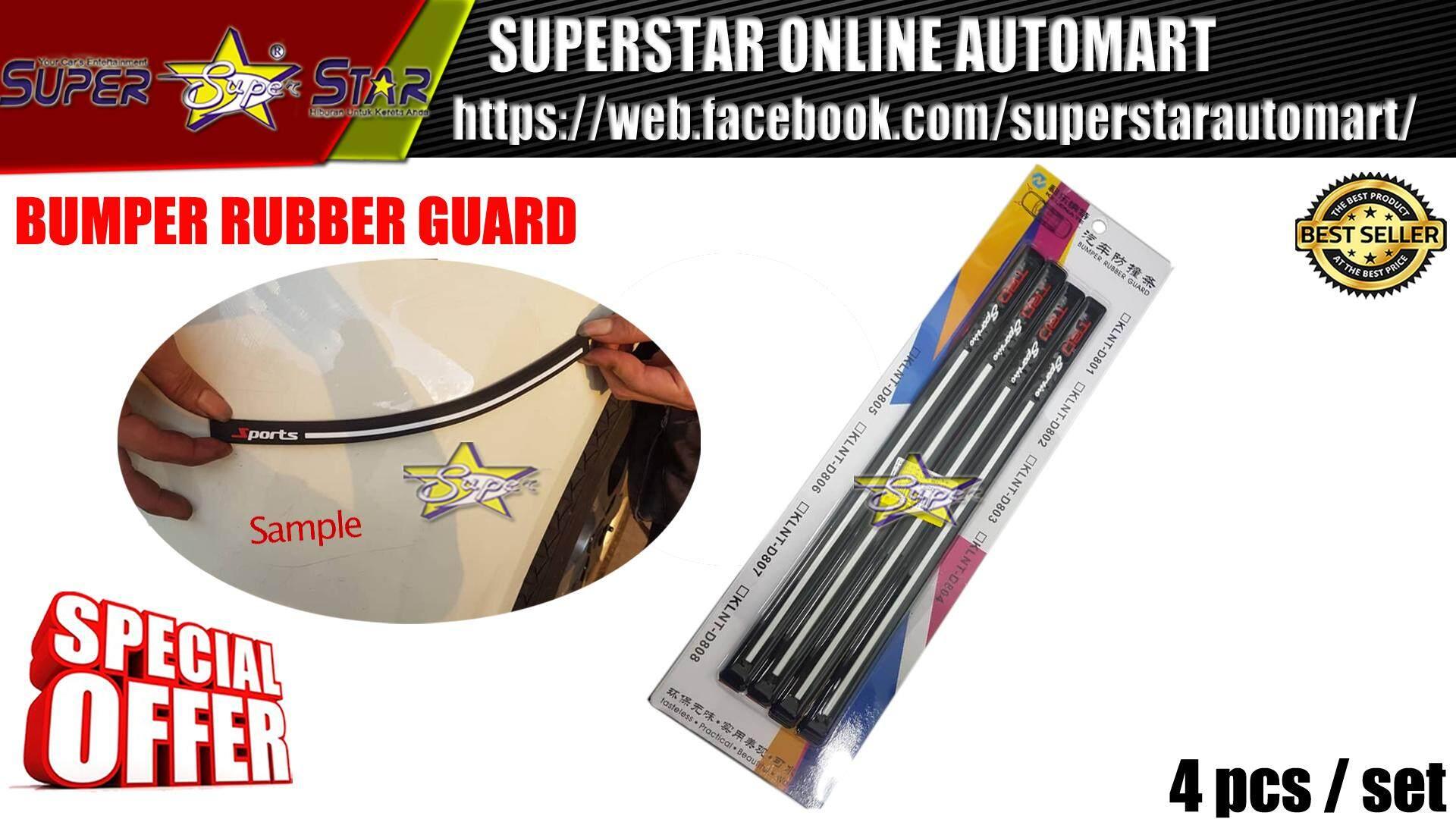 BUMPER RUBBER GUARD TRD (WHITE LINE)