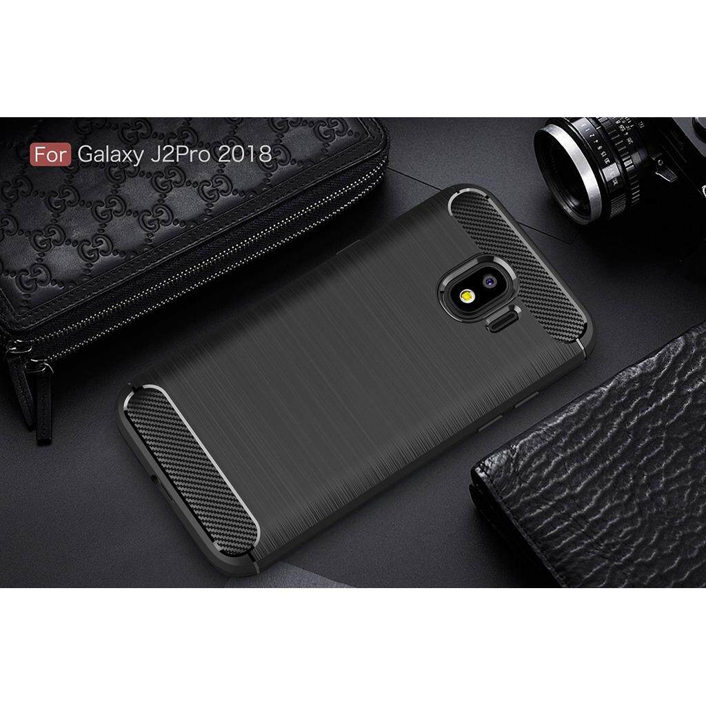 Detail Gambar TPU soft mobile shockproof carbon fiber Wire drawing silicone shell phone case cover for Samsung Galaxy J2 Pro 2018 Terbaru