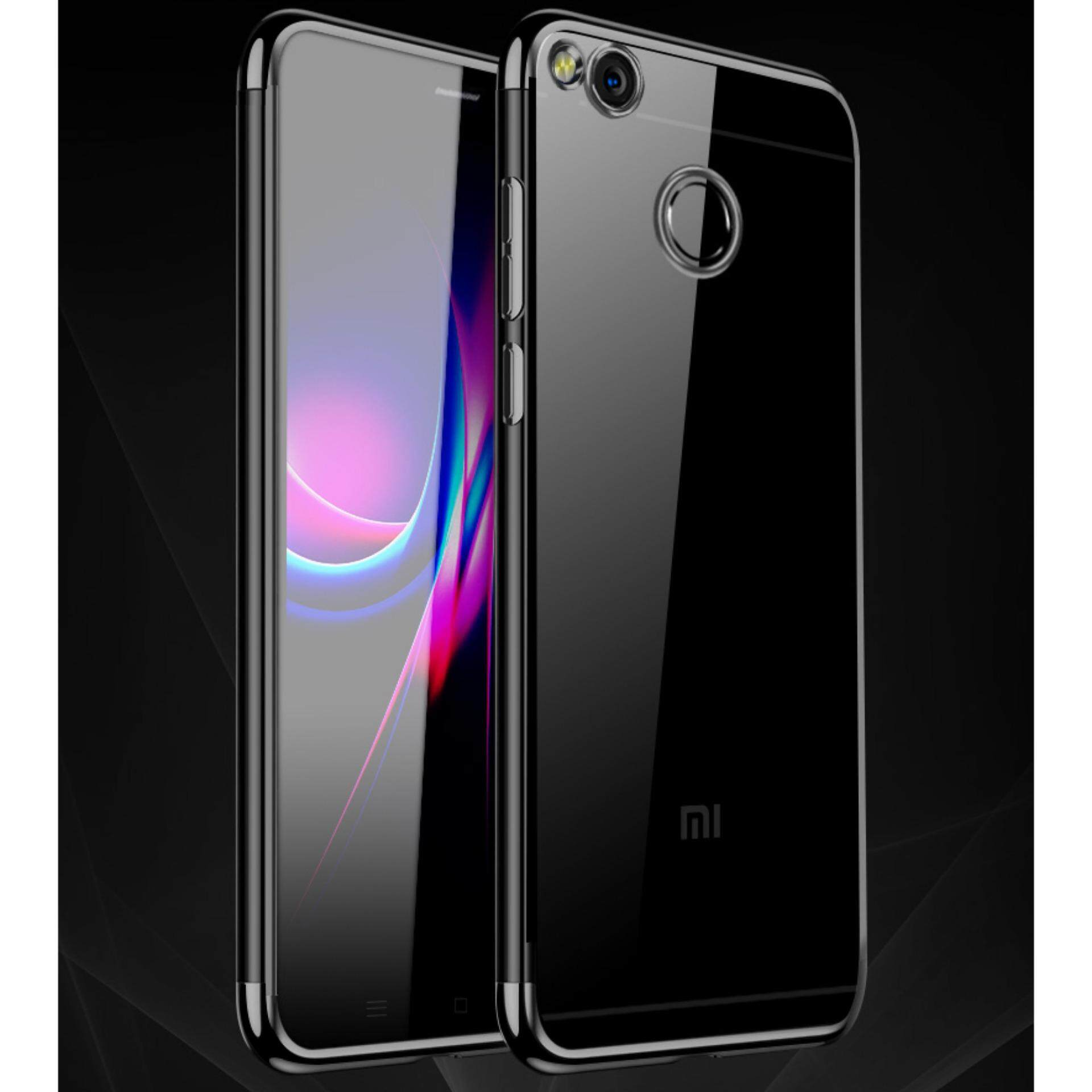 Features For Redmi 4x Soft Case Transparent Plating Cover Xiaomi Note 3 Tempered Glass Casing Handphone Softcase Transparan Ultra Slim Tpu Silicone Clear Back