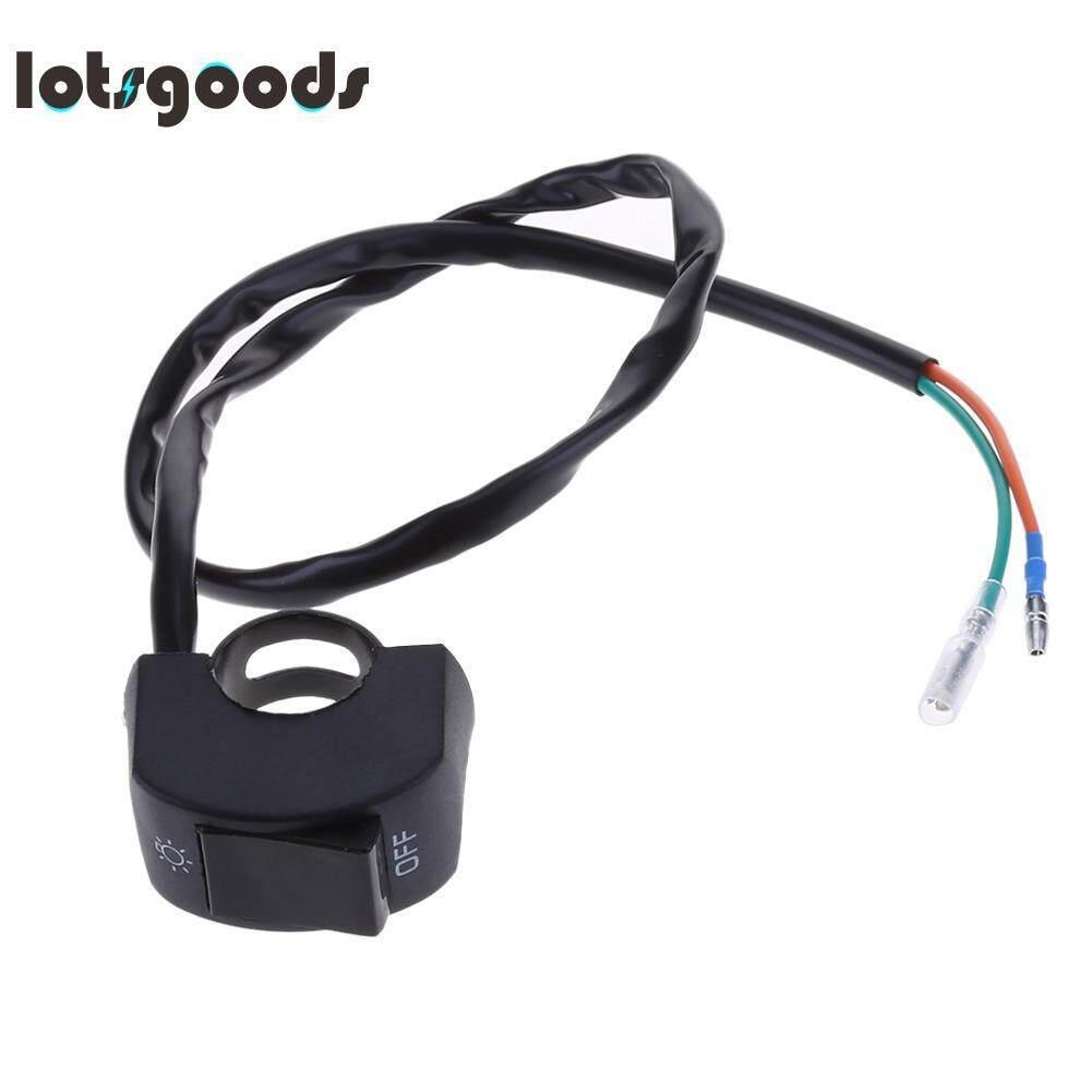 Cek Harga 12v 5 Pin Led Indicator Lamp Fog Light Switch On Off Round Rocker Spst Onoff 12vdc Amber 22mm 2 Wires Motorcycle Handlebar Button For Headlight