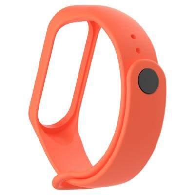 Silicone Smart Watch Strap for Xiaomi Miband 3 (ORANGE)