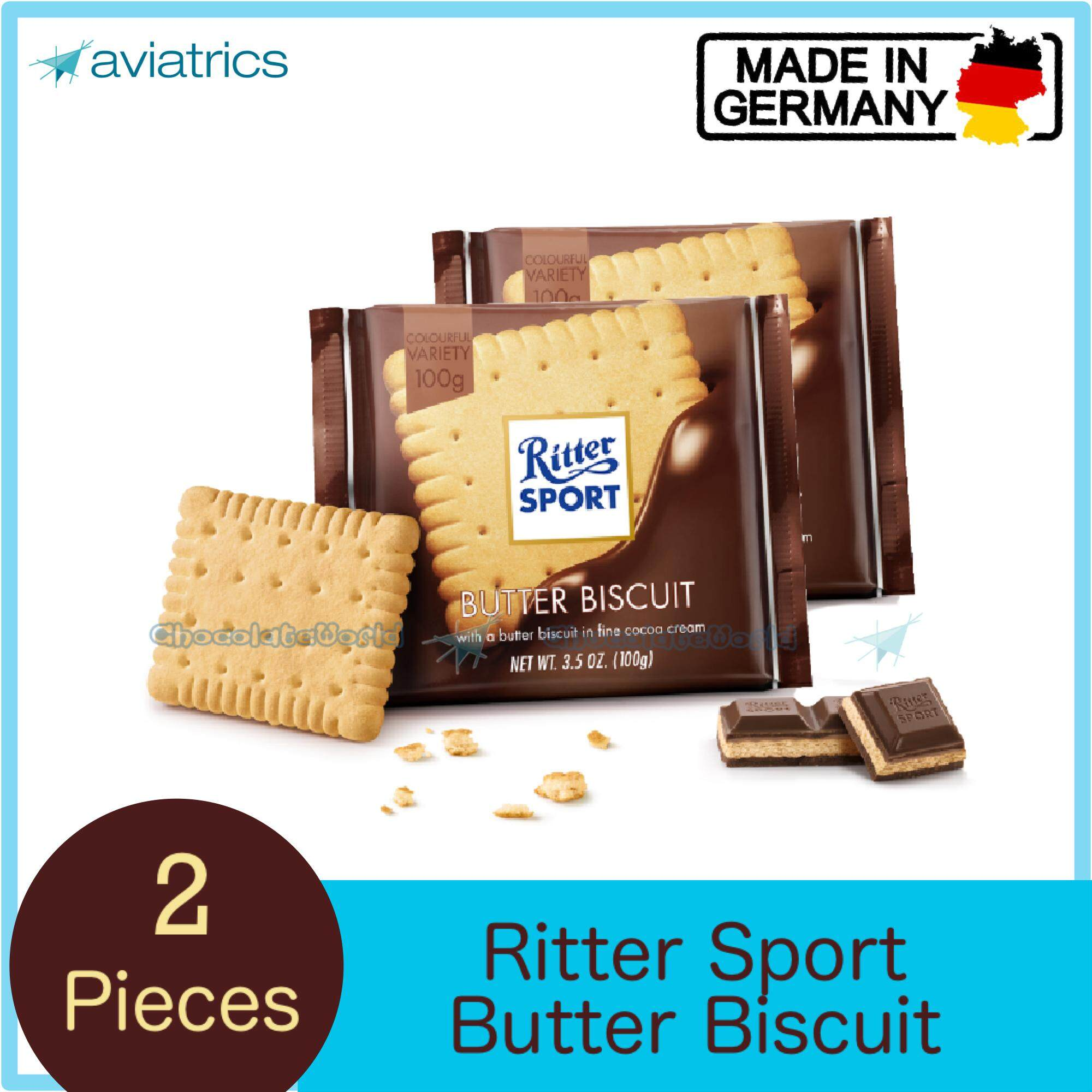 Ritter Sport Butter Biscuit 100g X 2 (Made in Germany)
