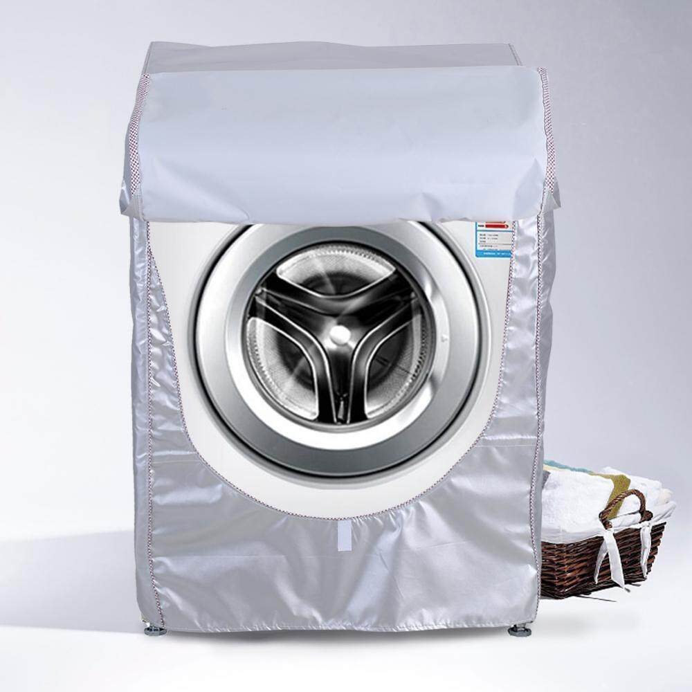 Silver Washing Machine Cover Waterproof Sunscreen Cover Front Load Washer Dryer Coat Protection - Intl By Minxin.