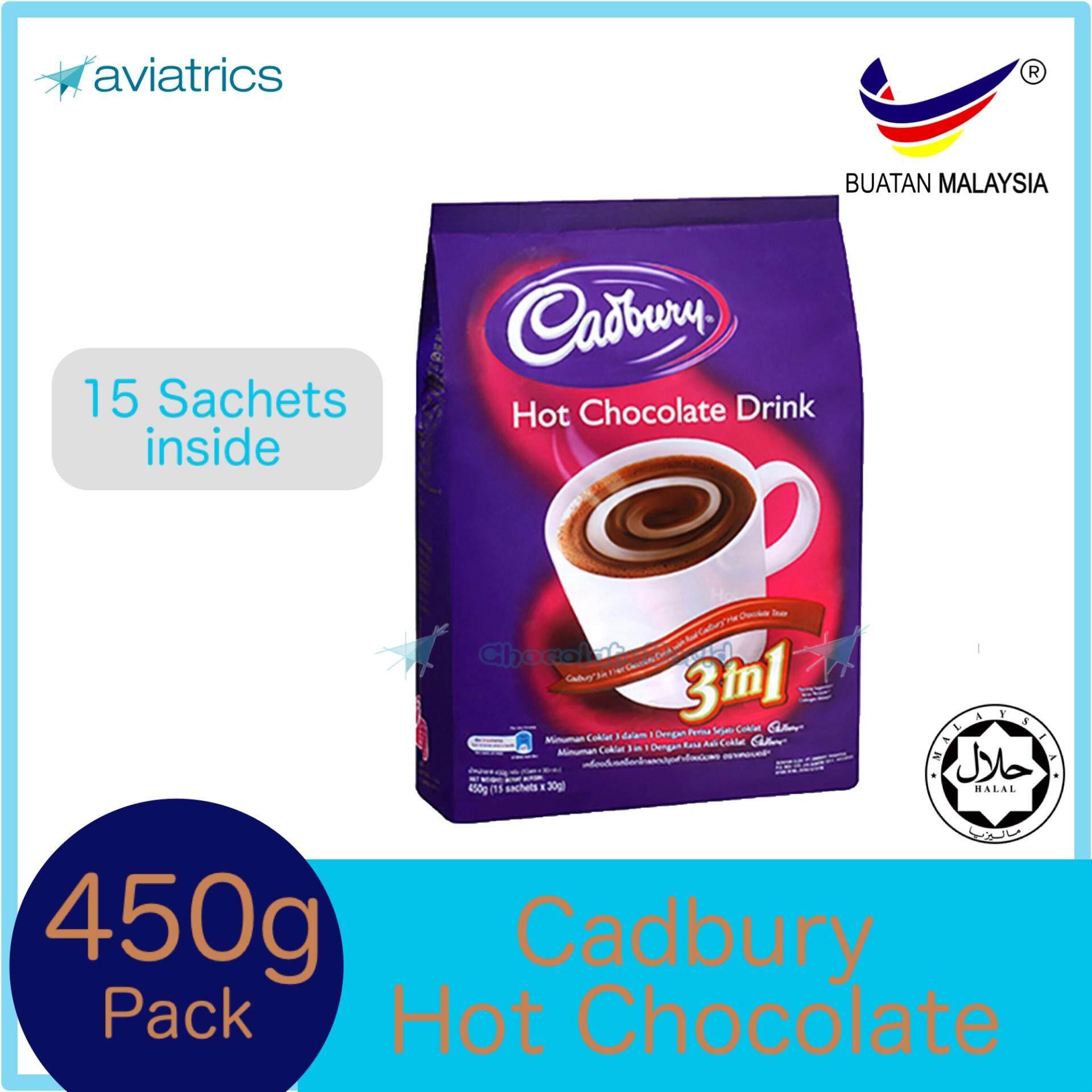 Cadbury 3 In 1 Hot Chocolate Drink 15sachets 450g
