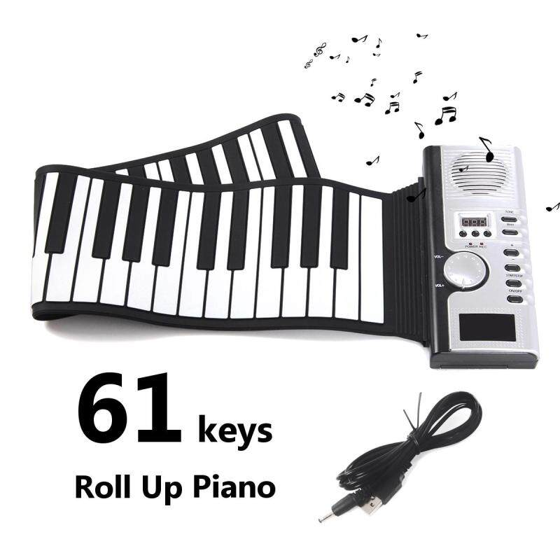 Portable LCD Display 61 Keys Roll Up Digital Electronic Soft Keyboard Piano Gift Malaysia