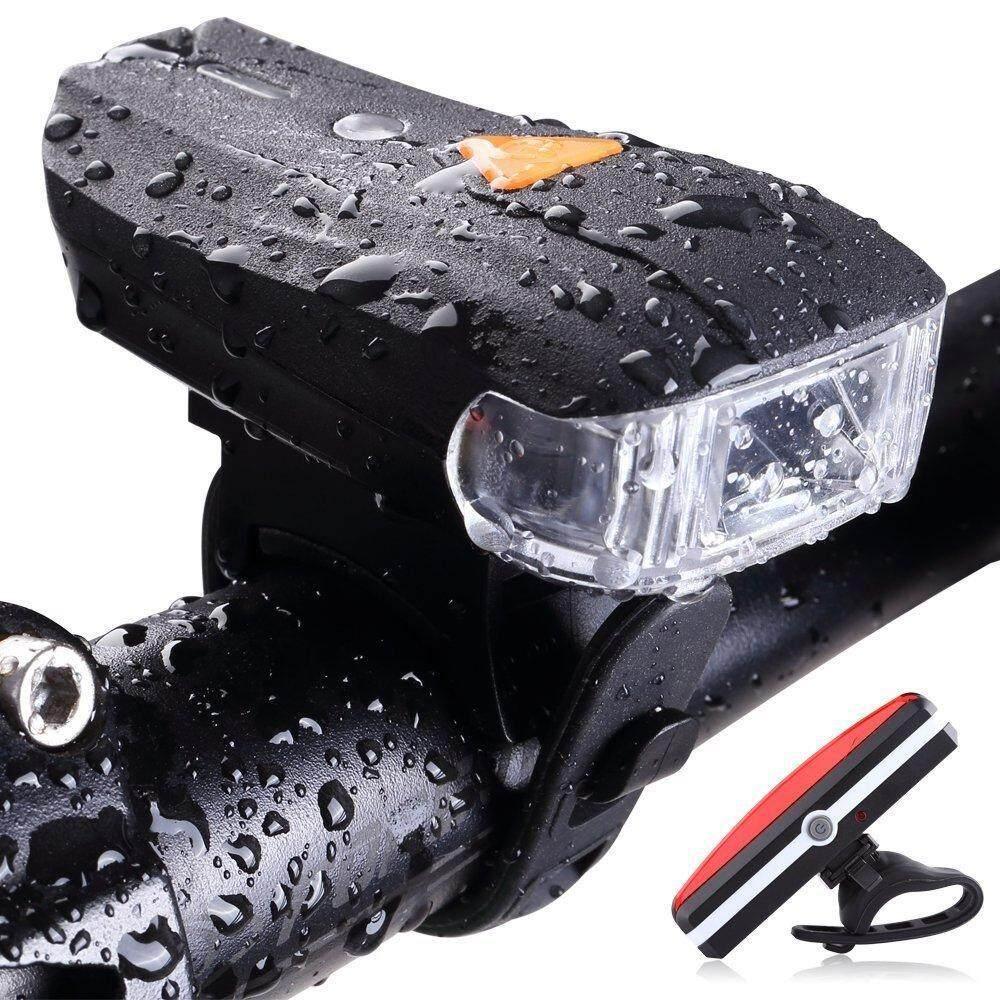 yugos USB Charger Bicycle Lamp Front Lamp USB Rear Light Mountain Bike Night Traffic Set Lamp - intl