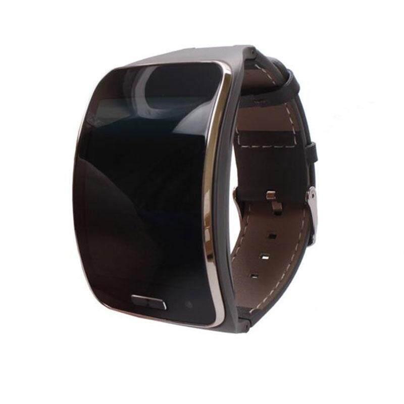 Kulit Pergelangan Tangan Tali Tali Gelang untuk Samsung Perlengkapan S R750 Pintar Jam Tangan-Internasional