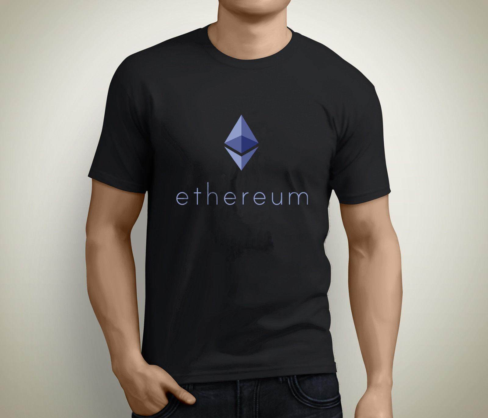 Buy Ethereum Cotton T Shirts Men Short Sleeved Tshirt Man Tee Round Intl