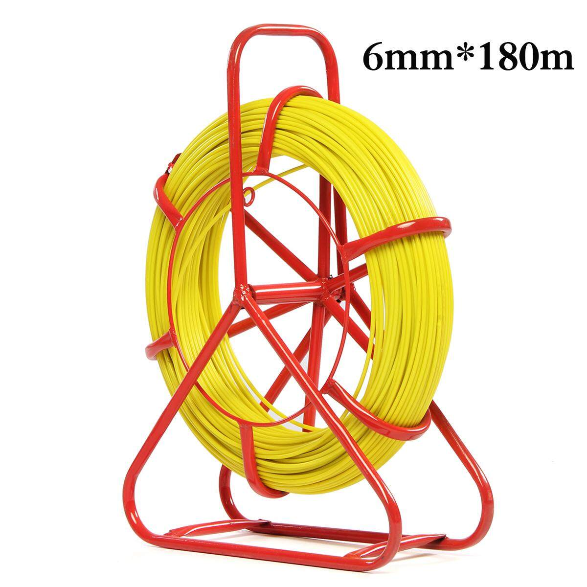 6mm Fiberglass Wire Cable Fish Tape Rodder Tube Running Rod Duct Puller - Intl By Audew.