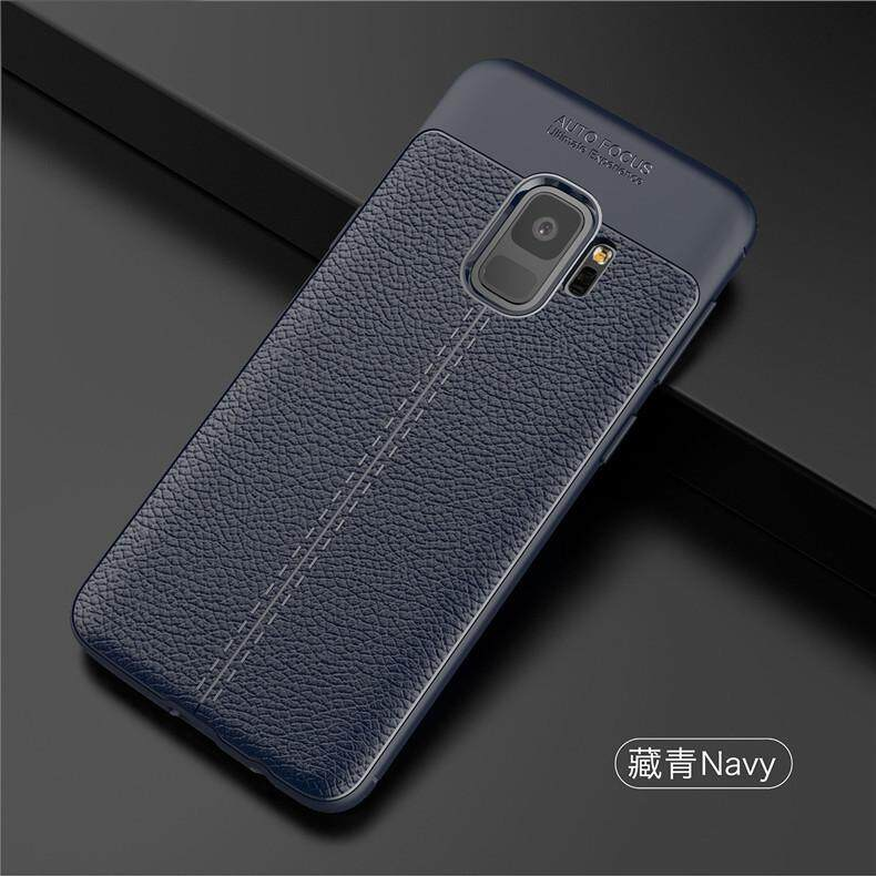Fitur Dermatoglyph Leather Grain Soft Tpu Case Cover For Samsung