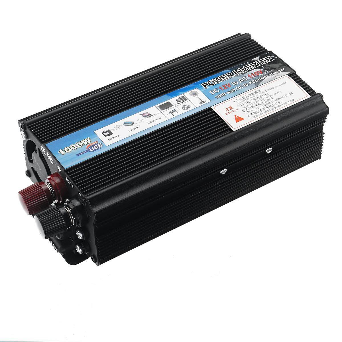 1000W DC 12V to AC 110V 220V Modified Sine Wave Car Power Inverter Converter USB [