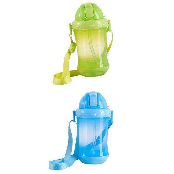 Best Offer Magideal 2Pcs Kids Water Bottle Bpa Free Flip Straw Cup For Children Girls Boys Sch**L Intl