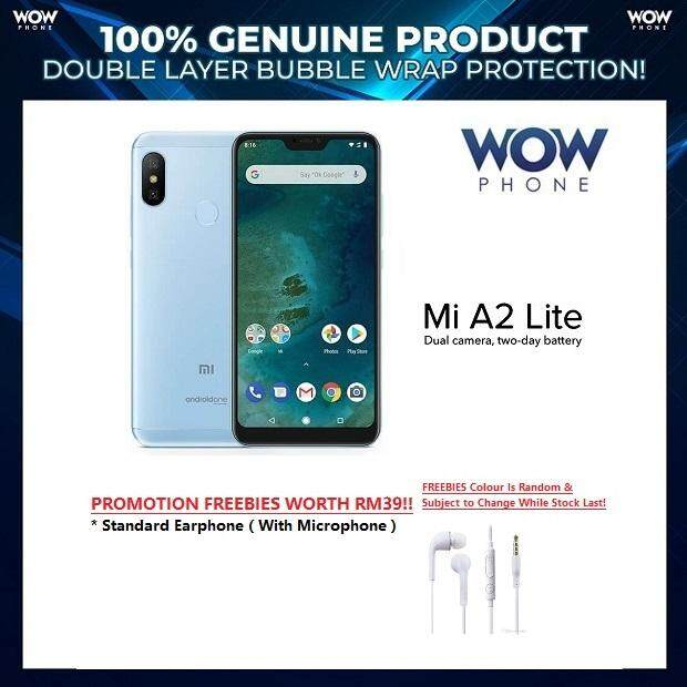 [Mi Malaysia Set] Xiaomi Mi A2 lite A.K.A Redmi 6 Pro,(3GB+32GB/ 4GB+64GB ROM), Original Mi Malaysia Set With 1 Year Warranty, (SEALED BOX!!) – READY STOCK, Promotion Freebies Worth RM39!!
