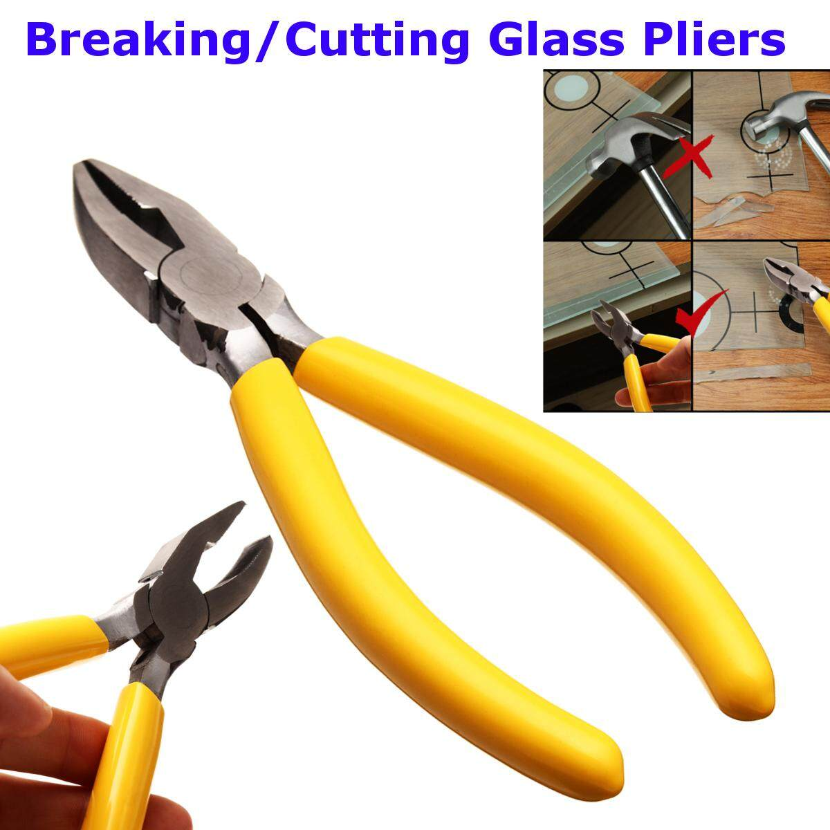 Hình ảnh Breaker Grozing Pliers Grozier 3/8 Inch Fanout Curved Jaw for Stained Glass Work