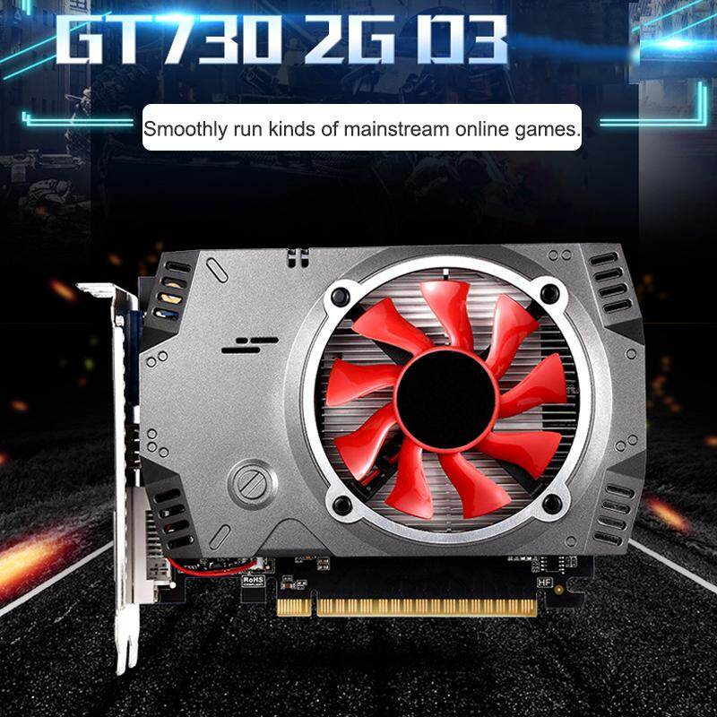 GT730 2GB DDR3 64Bit 1080P High Definition Computer Graphics Card Gaming Malaysia