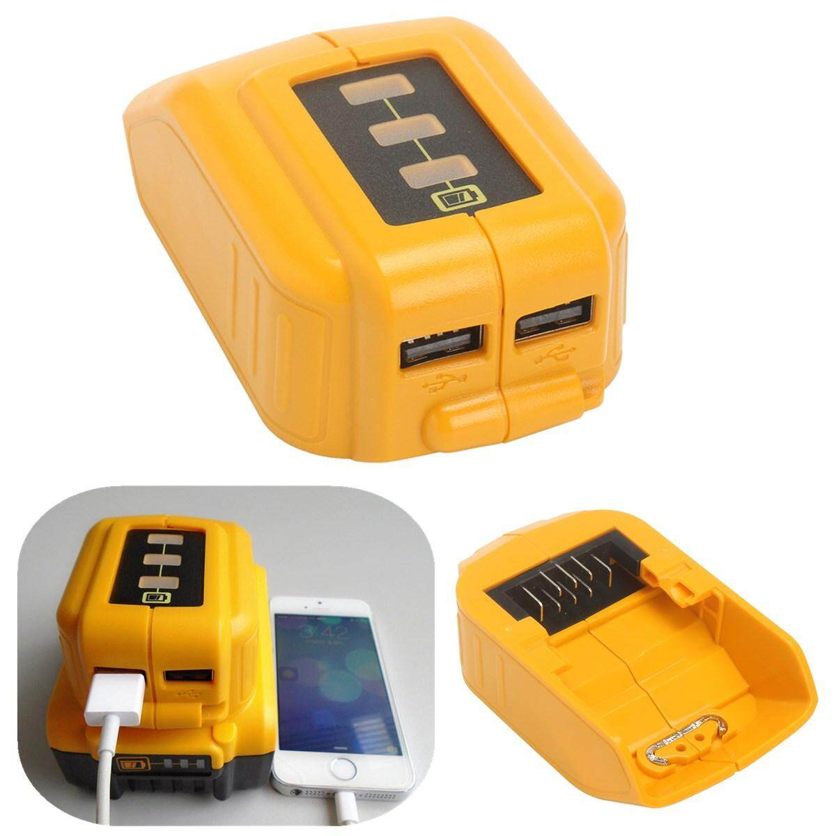 Spesifikasi New Usb Mobile Battery Charger Adapter For Dewalt 10 8V 20V Slide Dcb184 Dcb09 Intl Lengkap Dengan Harga