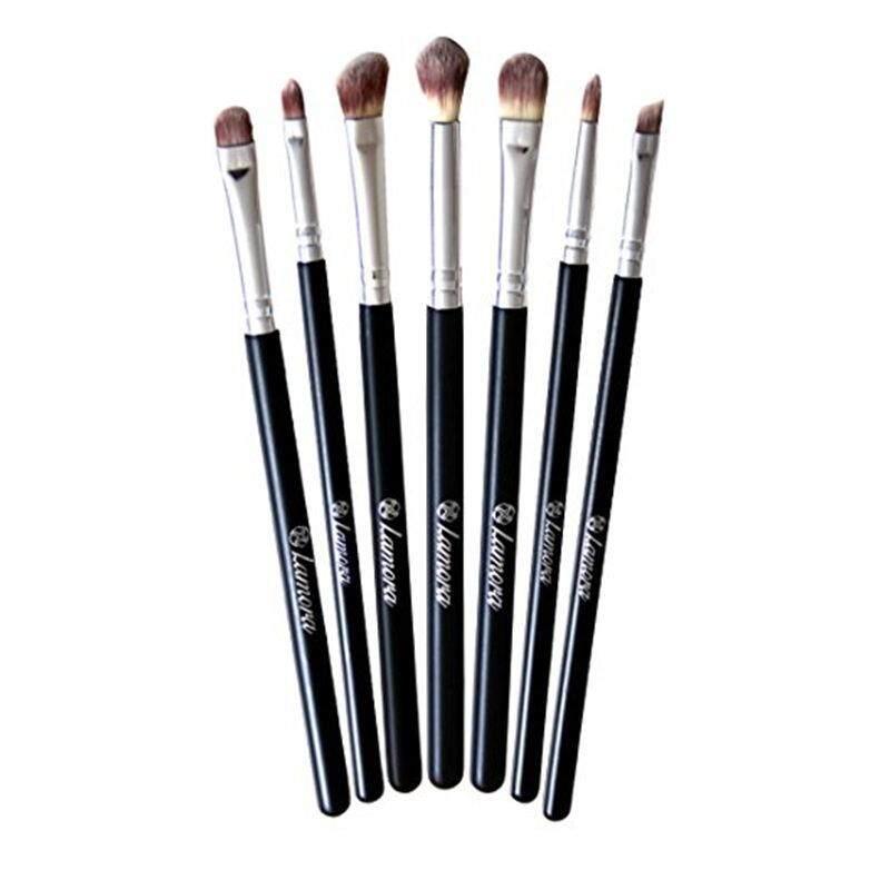 [Lamora] Makeup Eye Brush Set - Eyeshadow Eyeliner Blending Crease Kit - Best Choice 7 Essential Makeup Brushes - Pencil, Shader, Tapered, Definer - Last Longer, Apply Better Makeup & Make You Look Flawless! [From USA] - intl