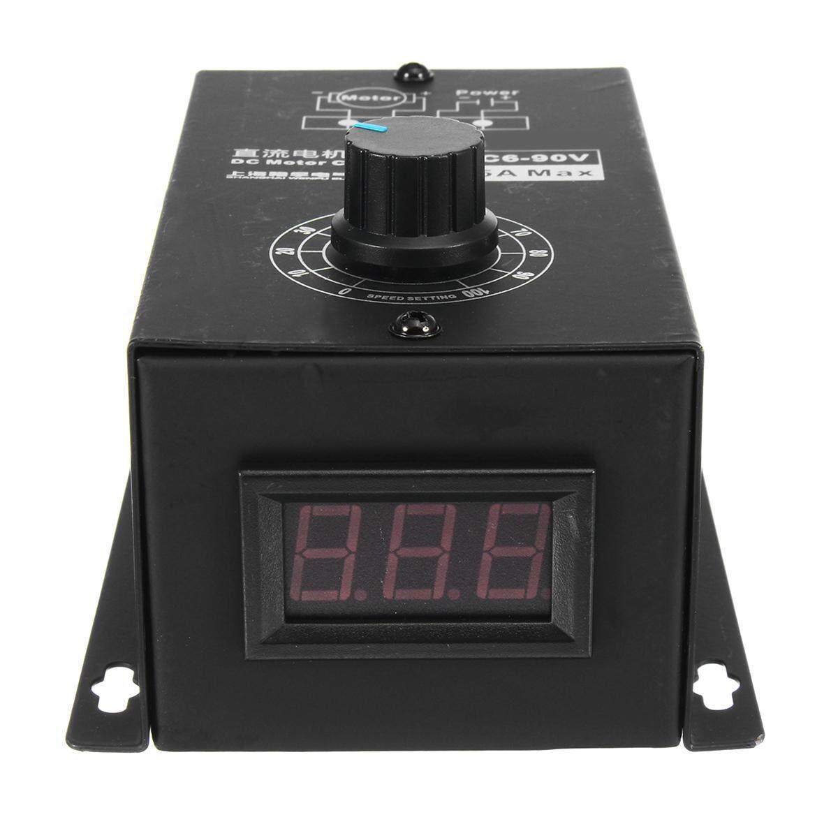 6 V-90 V 15A Kecepatan Motor DC Regulator PWM Modul Pengendali Switch W/
