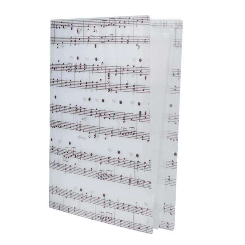 Miracle Shining Music Sheet Folder Documents Folder Paper File for Music Lovers #5 White Malaysia