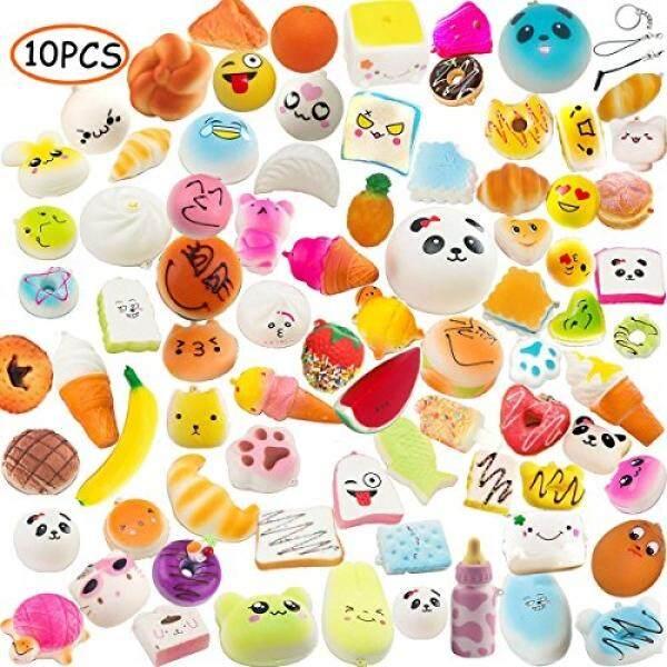... Charms Key Bag Cell Phone Straps - intl. Source · Pursuestar Random 10pcs Slow Rising Kawaii Medium Mini Soft Squishy Toys Panda Buns Cake Bread Cute