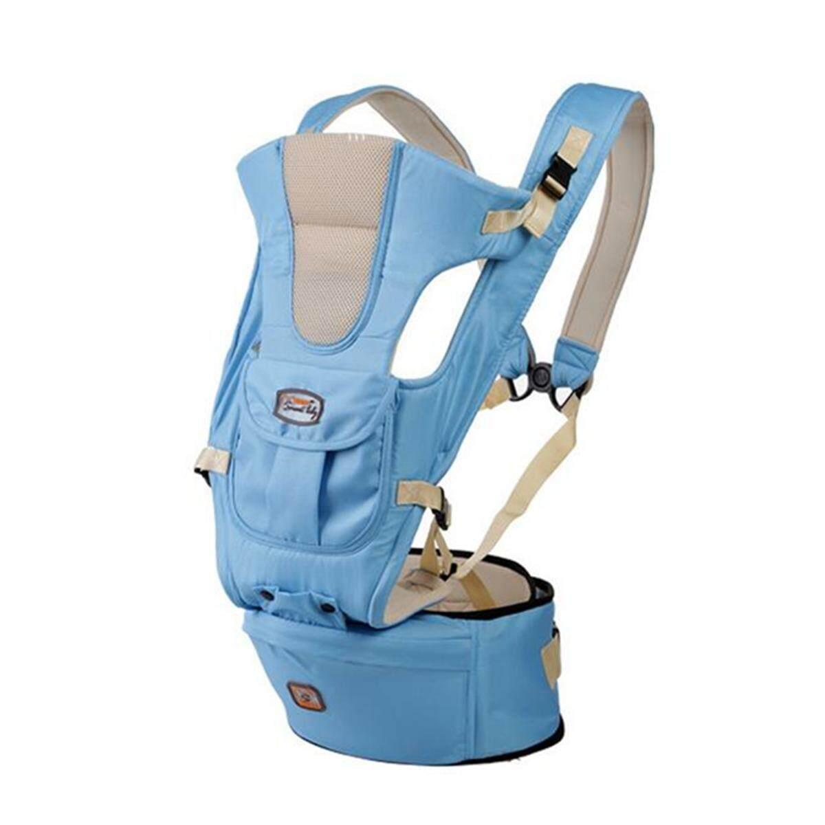 Baby Carrier Infant Kid Sling Adjustable Breathable Ergonomic Wrap Backpack Newblue By Moonbeam.