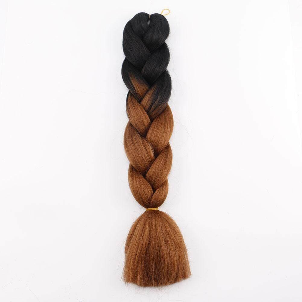 3Pcs/Set Gradient Color Big Braids Braiding Hair Fashionable Kanekalon Hair Extension Headdress Lucky-G - intl