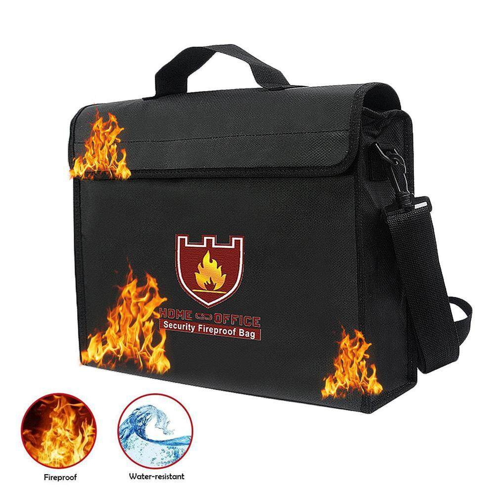 Womdee Fireproof Bag,Fireproof Waterproof Explosion Protect Document Money File Bag With Silicone Coated Fiberglass And Aluminum Foil Coated - intl