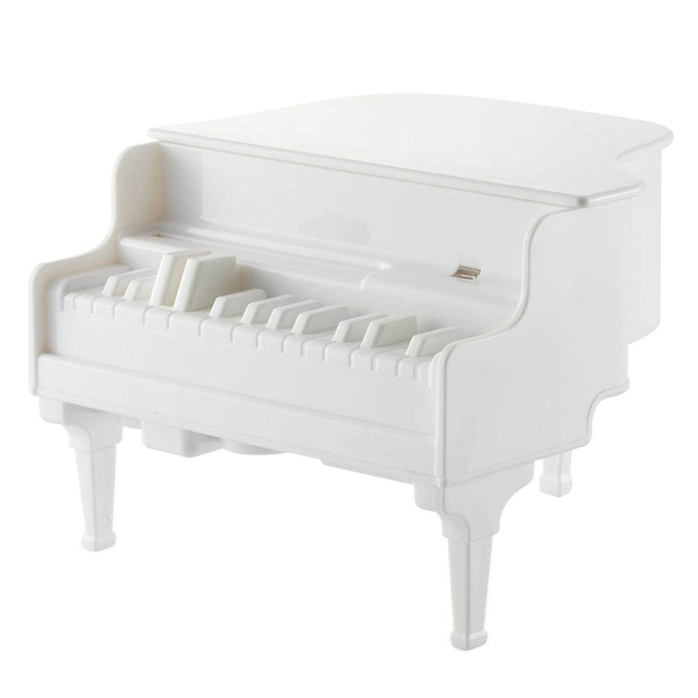 qooyonq Creative Piano UV Ultraviolet Sterilizing Automatic Toothpick Dispenser Case Holder (White) - intl
