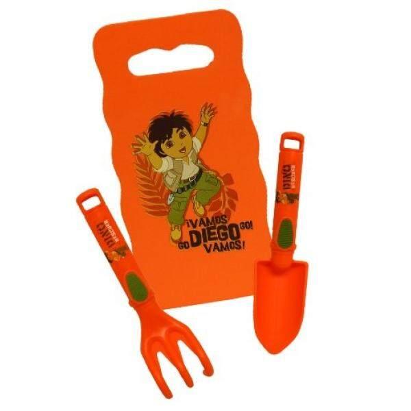 Almm Nickelodeon Diego Kombo Bungkus dengan Berlutut Alas/Trowel/Cultivator, DO8P3, Ukuran: Anak-anak-Internasional